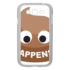 Poo Happens Samsung Galaxy Grand Duos I9082 Case (white)