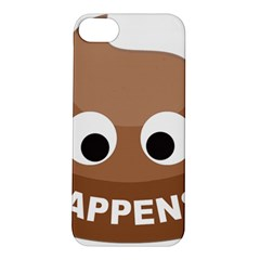 Poo Happens Apple Iphone 5s/ Se Hardshell Case by Vitalitee