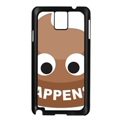 Poo Happens Samsung Galaxy Note 3 N9005 Case (black) by Vitalitee
