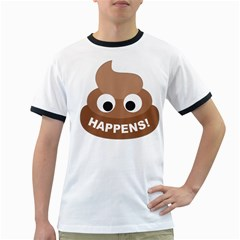 Poo Happens Ringer T Shirts by Vitalitee