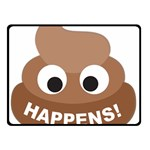 Poo Happens Double Sided Fleece Blanket (Small)  45 x34 Blanket Back