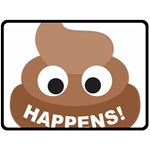 Poo Happens Double Sided Fleece Blanket (Large)  80 x60 Blanket Front