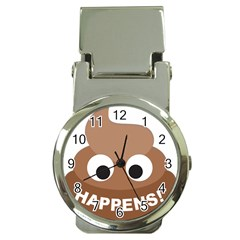 Poo Happens Money Clip Watches by Vitalitee