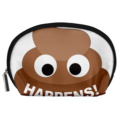 Poo Happens Accessory Pouches (large)  by Vitalitee