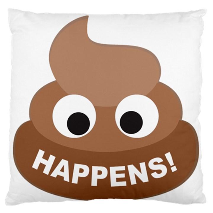 Poo Happens Standard Flano Cushion Case (One Side)