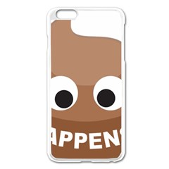 Poo Happens Apple Iphone 6 Plus/6s Plus Enamel White Case by Vitalitee
