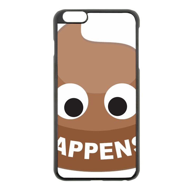 Poo Happens Apple iPhone 6 Plus/6S Plus Black Enamel Case