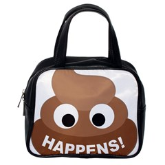 Poo Happens Classic Handbags (one Side) by Vitalitee