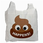Poo Happens Recycle Bag (One Side) Front