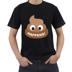 Poo Happens Men s T Shirt (black) by Vitalitee
