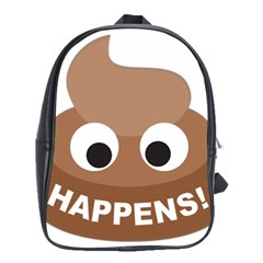 Poo Happens School Bag (large) by Vitalitee