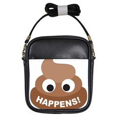 Poo Happens Girls Sling Bags by Vitalitee