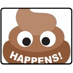 Poo Happens Fleece Blanket (Medium)  60 x50 Blanket Front