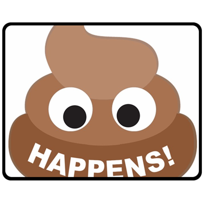Poo Happens Fleece Blanket (Medium)