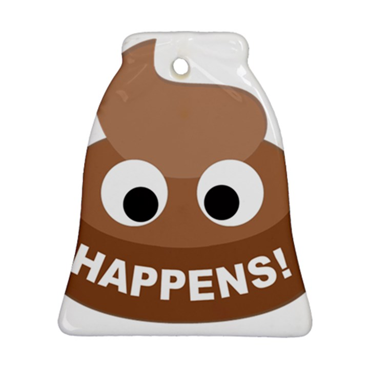 Poo Happens Bell Ornament (Two Sides)
