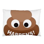 Poo Happens Pillow Case (Two Sides) Front