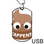 Poo Happens Dog Tag USB Flash (Two Sides) Back