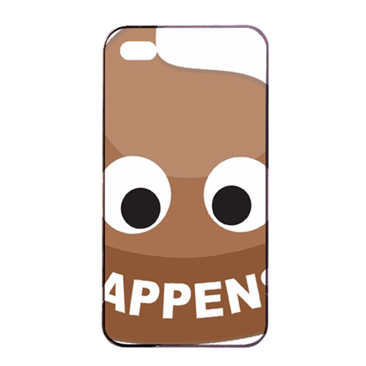 Poo Happens Apple iPhone 4/4s Seamless Case (Black)