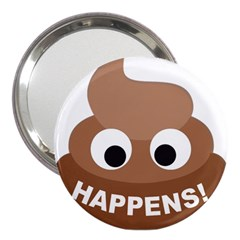 Poo Happens 3  Handbag Mirrors