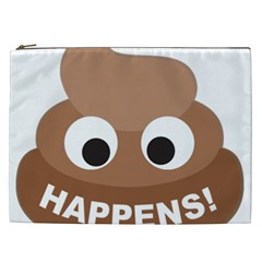 Poo Happens Cosmetic Bag (xxl)  by Vitalitee