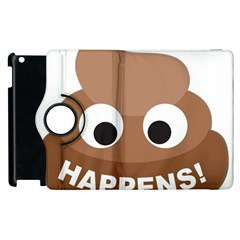 Poo Happens Apple Ipad 2 Flip 360 Case