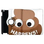 Poo Happens Apple iPad 2 Flip 360 Case Front