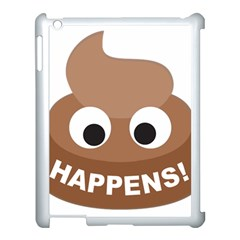Poo Happens Apple Ipad 3/4 Case (white)