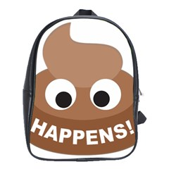 Poo Happens School Bag (xl) by Vitalitee