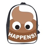 Poo Happens School Bag (XL) Front