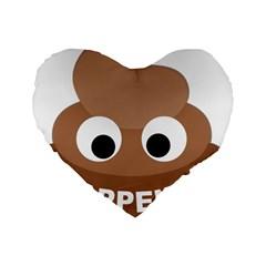 Poo Happens Standard 16  Premium Heart Shape Cushions