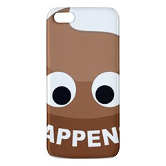 Poo Happens Apple Iphone 5 Premium Hardshell Case by Vitalitee