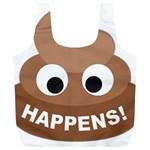 Poo Happens Full Print Recycle Bags (L)  Back