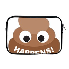 Poo Happens Apple Macbook Pro 17  Zipper Case