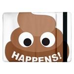Poo Happens Samsung Galaxy Tab Pro 12.2  Flip Case Front