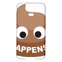 Poo Happens Samsung Galaxy S5 Back Case (white) by Vitalitee