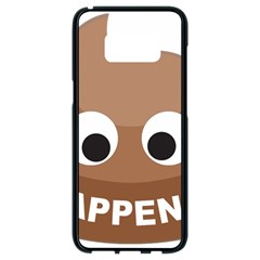 Poo Happens Samsung Galaxy S8 Black Seamless Case by Vitalitee