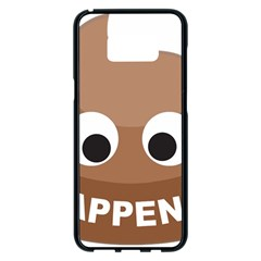 Poo Happens Samsung Galaxy S8 Plus Black Seamless Case by Vitalitee