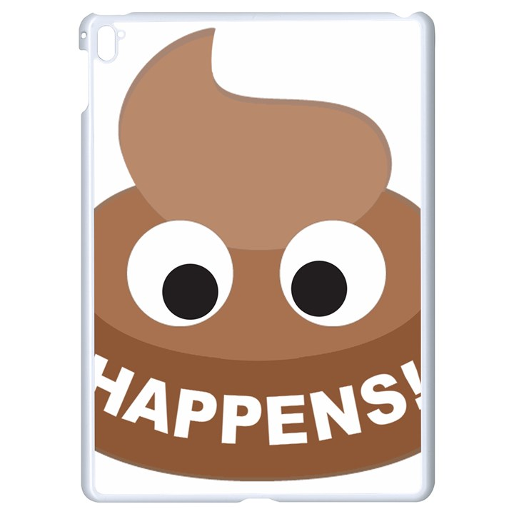 Poo Happens Apple iPad Pro 9.7   White Seamless Case