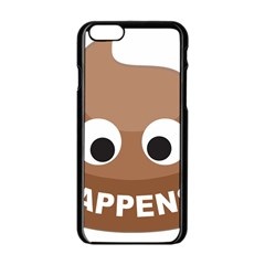 Poo Happens Apple Iphone 6/6s Black Enamel Case by Vitalitee