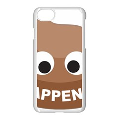 Poo Happens Apple Iphone 8 Seamless Case (white)