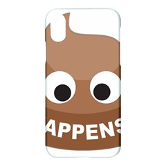 Poo Happens Apple Iphone X Hardshell Case by Vitalitee