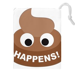 Poo Happens Drawstring Pouches (xxl) by Vitalitee