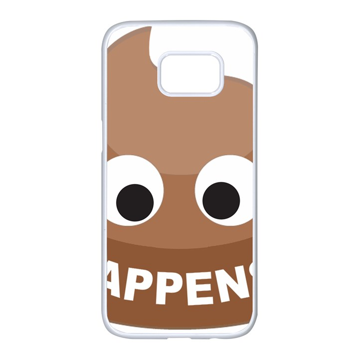 Poo Happens Samsung Galaxy S7 edge White Seamless Case