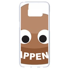 Poo Happens Samsung Galaxy S8 White Seamless Case by Vitalitee
