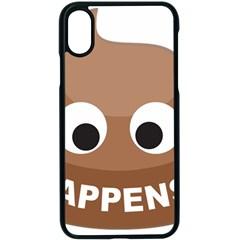 Poo Happens Apple Iphone X Seamless Case (black)