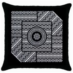 Wavy Panels Throw Pillow Case (Black)