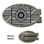 Wavy Panels Money Clips (Oval)