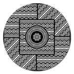 Wavy Panels Magnet 5  (Round)