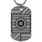 Wavy Panels Dog Tag (One Side)