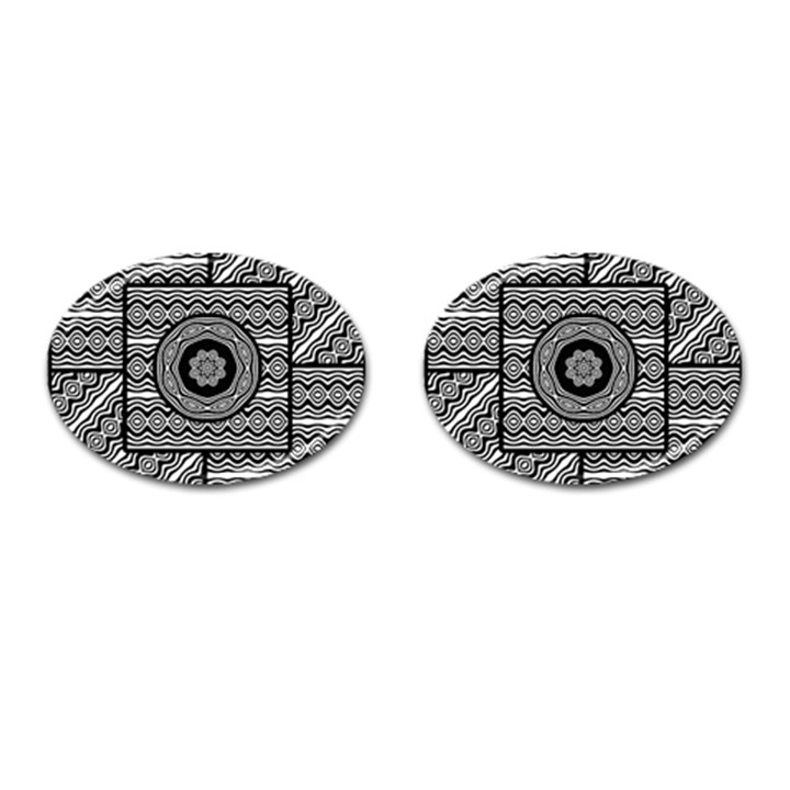 Wavy Panels Cufflinks (Oval)